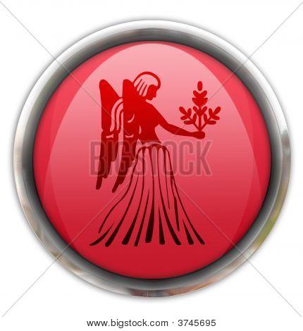 Botón con el signo Zodiacal Virgo