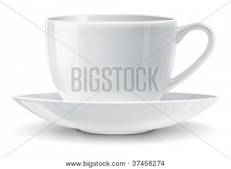 Vector illustration of white cup