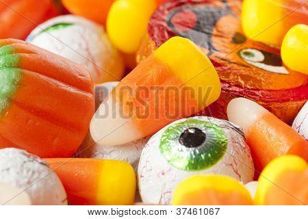 Spooky Orange Halloween Candy