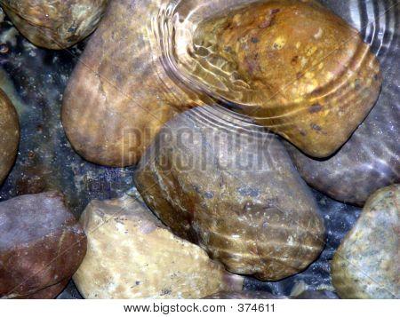 Pedras debaixo de água, jardins de Longwood, Pa