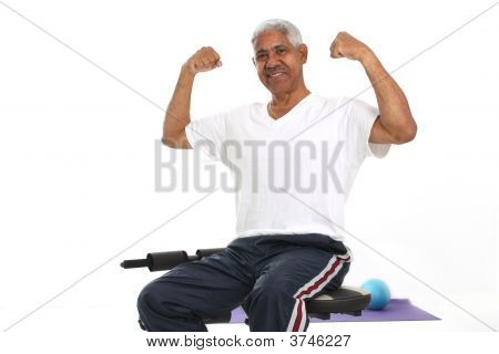Senior Man Working Out