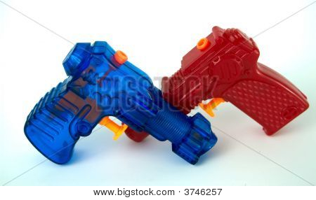 Red And Blue Water Pistols