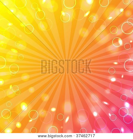 Colorful Design Template With Bokeh, Vector Illustration