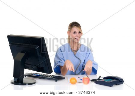 Female Doctor In Office