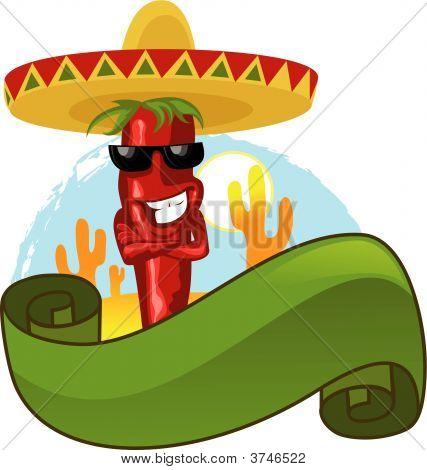Red Chili Papier und heiße Sommer-Zeit