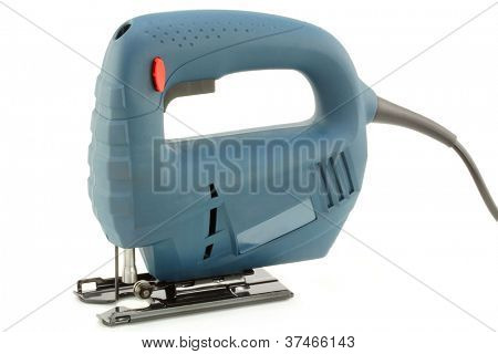 Professional Electric Jig Saw with round handle on white background