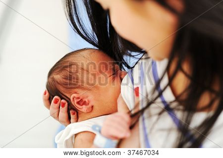 Mother Breastfeeding her newborn