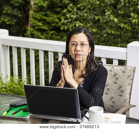 Thinking While Working At Home Outdoors