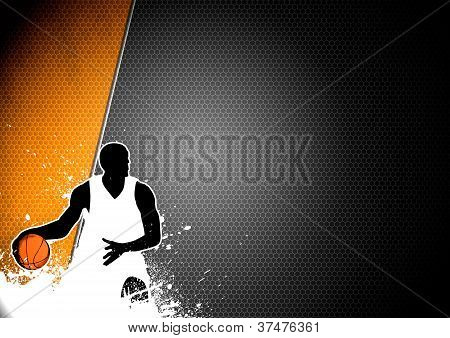 Basketball Man And Ball