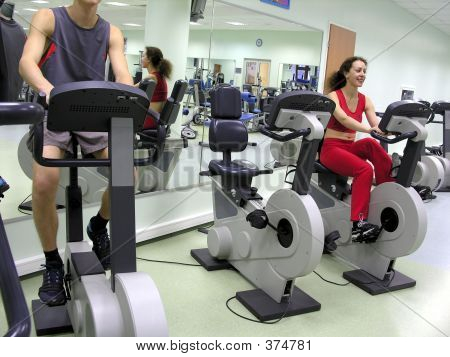 Boy And Girl In Health Club