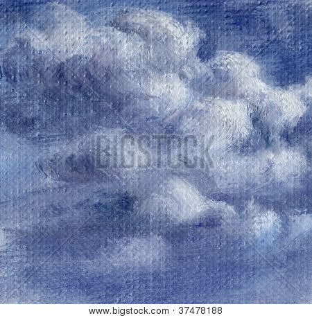Picture, sky with clouds
