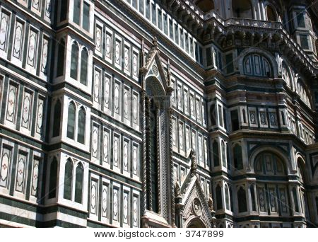 Detail Of Of The Church Of Santa Maria Del Fiore
