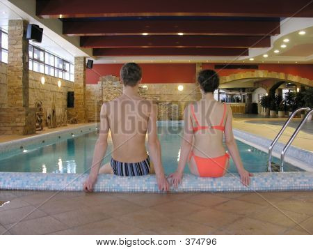 Couple And Swimming Pool
