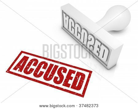 Accused Rubber Stamp