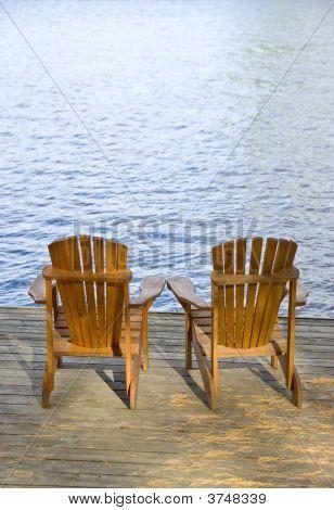 Muskoka Chairs By The Lake