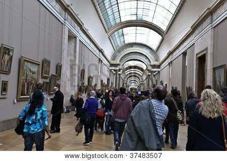 Louvre Museum and Visitors