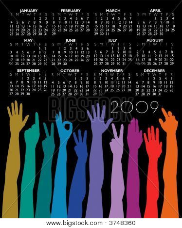 Hands Of All Races Calendar