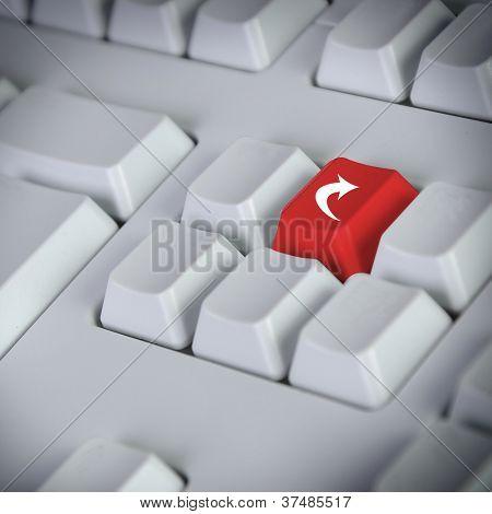 arrow keys on a desktop computer keyboard
