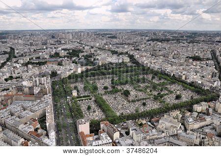 Paris view from Montparnasse