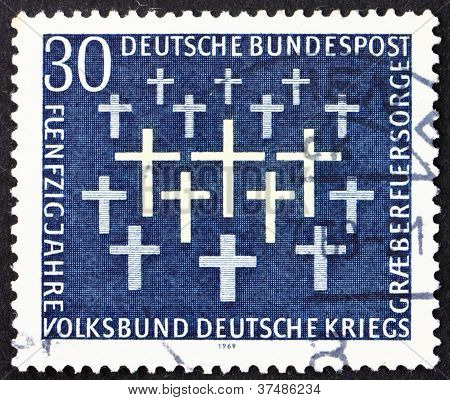 Estampilla Alemania 1969 cruza