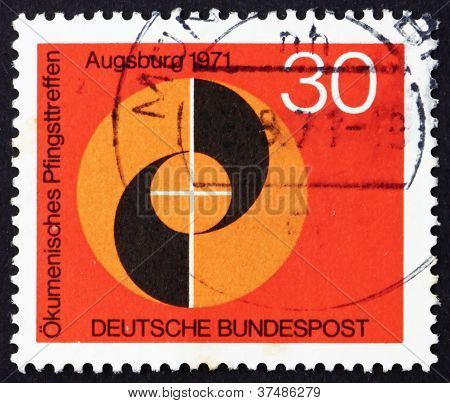 Postage stamp Germany 1971 Evangelical and Catholic Churches