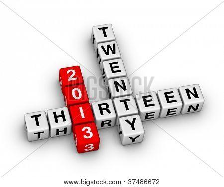 Feliz que año nuevo 2013 cubos signo