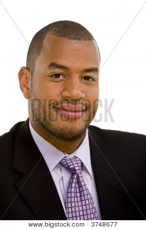 Confident Black Businessman