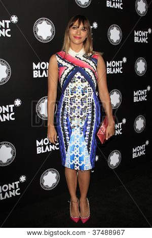 LOS ANGELES - OCT 2: Rashida Jones at the Montblanc 2012 Montblanc De La Culture Arts Gala honoring Quincy Jones at Chateau Marmont on October 2, 2012 in Los Angeles, California