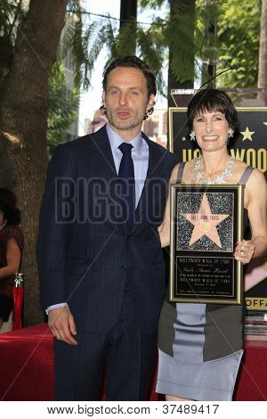 LOS ANGELES - OCT 3: Gale Anne Hurd, Andrew Lincoln at a ceremony as Gale Anne Hurd is honored with a star on the Hollywood Walk of Fame on October 3, 2012 in Los Angeles, California