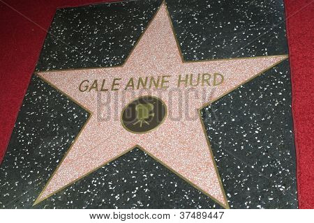 LOS ANGELES - OCT 3: Gale Anne Hurd star at a ceremony as Gale Anne Hurd is honored with a star on the Hollywood Walk of Fame on October 3, 2012 in Los Angeles, California