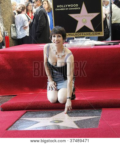 LOS ANGELES - OCT 3: Gale Anne Hurd at a ceremony as Gale Anne Hurd is honored with a star on the Hollywood Walk of Fame on October 3, 2012 in Los Angeles, California