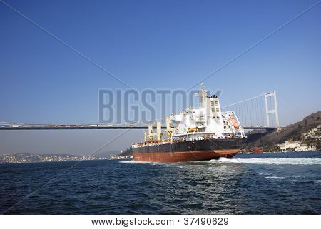 Shipping at Bosporus, Istanbul, Turkey