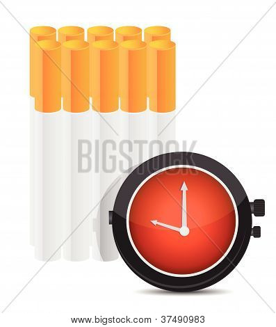 Time to stop smoking concept illustration design