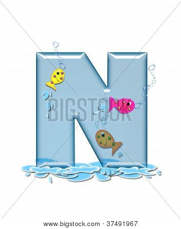 Alphabet Fish Flop N