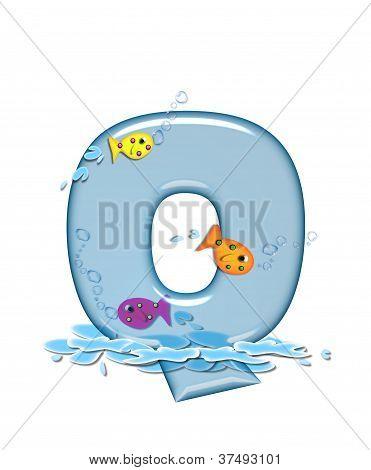 Alphabet Fish Flop Q