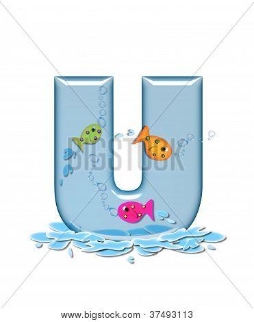 Alphabet Fish Flop U