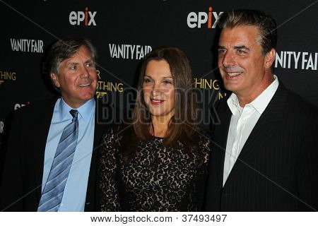 NEW YORK-OCT 3: Mark Greenberg, Barbara Broccoli and Christopher Noth attend 'Everything Or Nothing: The Untold Story Of 007' premiere at the Museum of Modern Art on October 3, 2012 in New York City