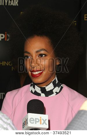NEW YORK-OCT 3: Solange Knowles attends 'Everything Or Nothing: The Untold Story Of 007' premiere at the Museum of Modern Art on October 3, 2012 in New York City