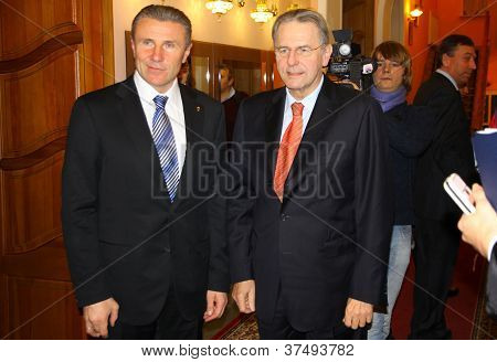 Serhiy Bubka And Jacques Rogge