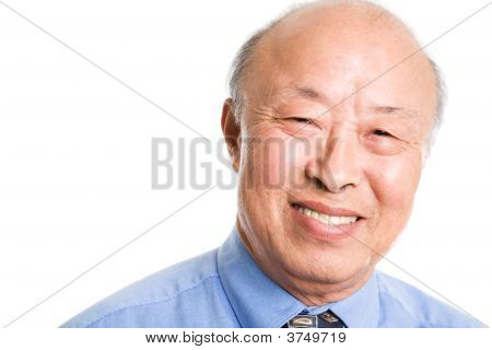 Smiling Senior Asian Businessman