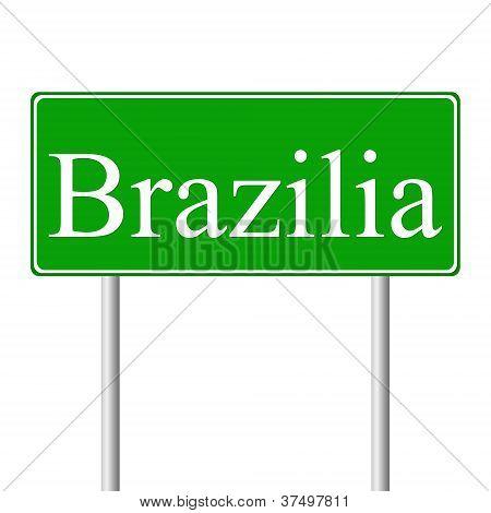 Muestra de camino verde de Brasilia