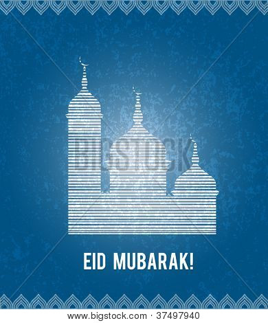 Eid Mubarak greeting illustration - eps10