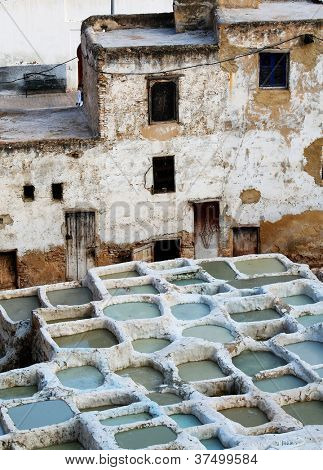 Fes Tanneries, Morocco, Africa