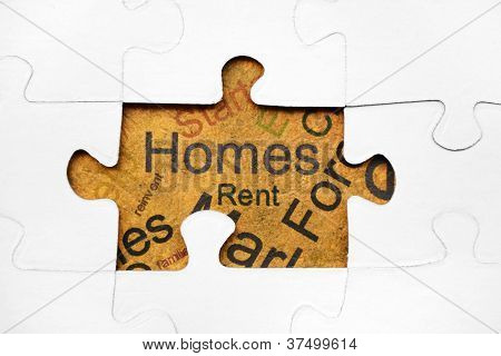 Home Puzzle Concept