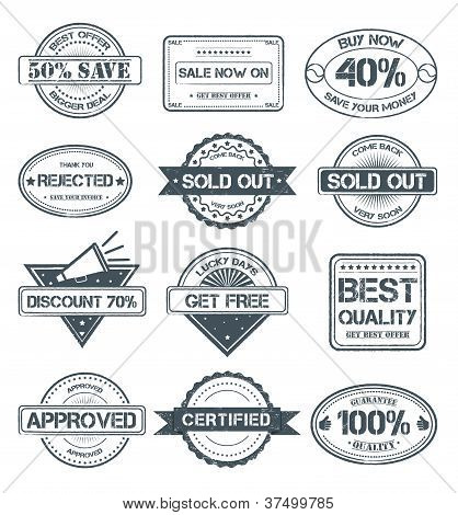 Stamp Style Selling Badges