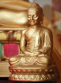 stock photo of siddhartha  - Small figure of Gautama Buddha also knwn as Siddhartha Gautama Buddha - JPG