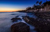 stock photo of pch  - After sunset at Victoria Beach in Laguna Beach City - JPG