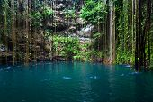 stock photo of cenote  - View of Cenote Ik - JPG