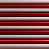 stock photo of cylinder pyramid  - red metallic and silver color of pipes as texture - JPG
