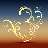 picture of om  - stylish hindu om symbol vector design - JPG